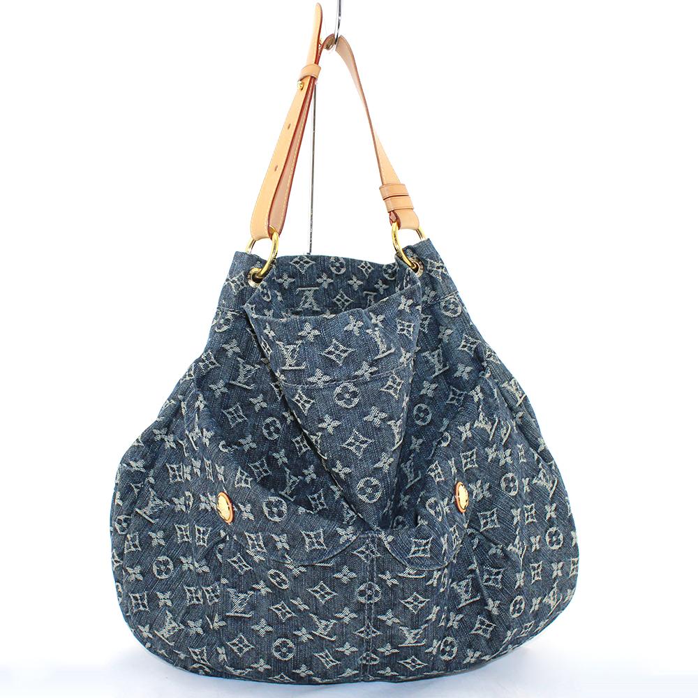 Sac Louis Vuitton Daily Denim monogram GM Authentique d'occasion en toile jeans couleur bleu