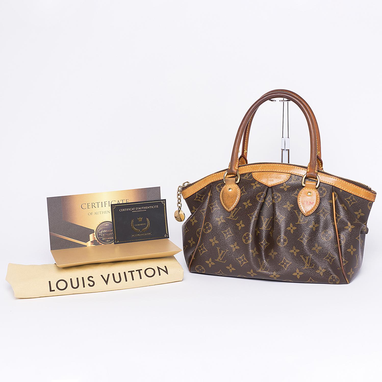Sac Louis Vuitton Tivoli PM Authentique d'occasion en toile monogram brun