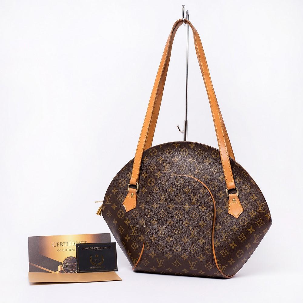 Sac à bandoulière Louis Vuitton Ellipse Shopping GM Authentique d'occasion en toile monogram