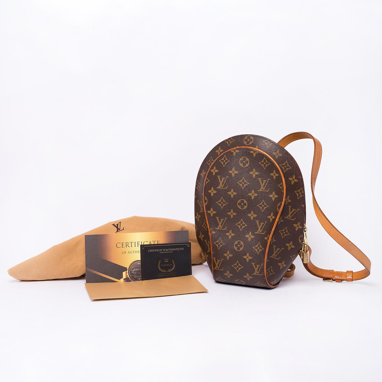 Superbe Sac à dos Louis Vuitton Ellipse Authentique d'occasion en toile Monogram brun