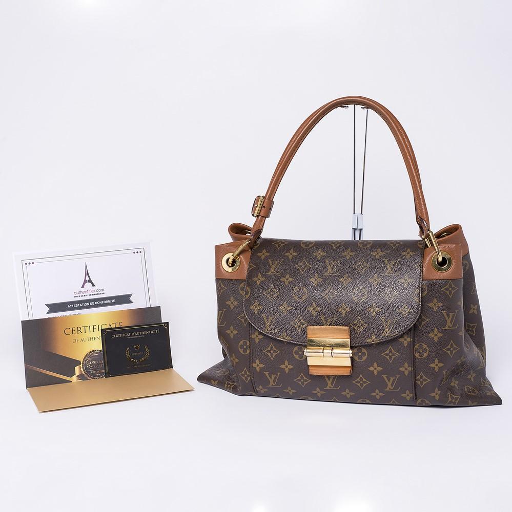 Sac à main Louis Vuitton Olympe Authentique d'occasion en toile Monogram couleur brun