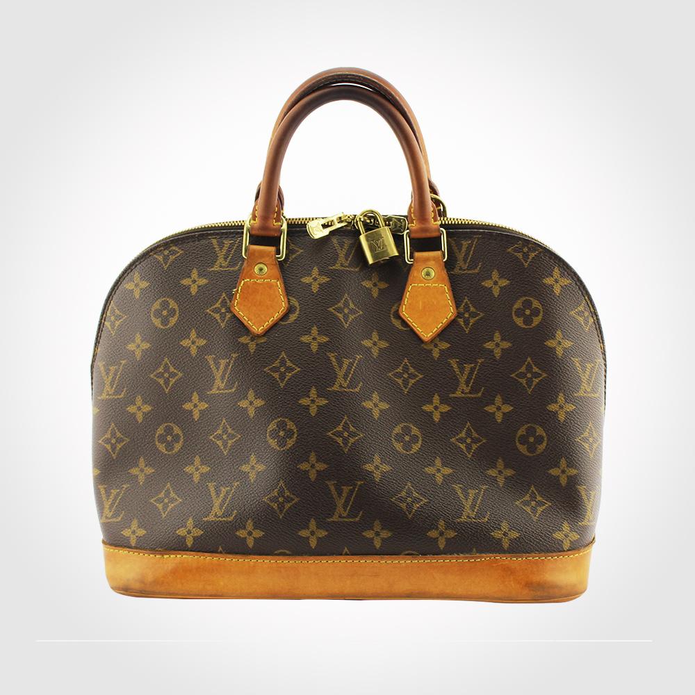 Sac à main Louis Vuitton Alma PM Authentique d'occasion en toile Monogram