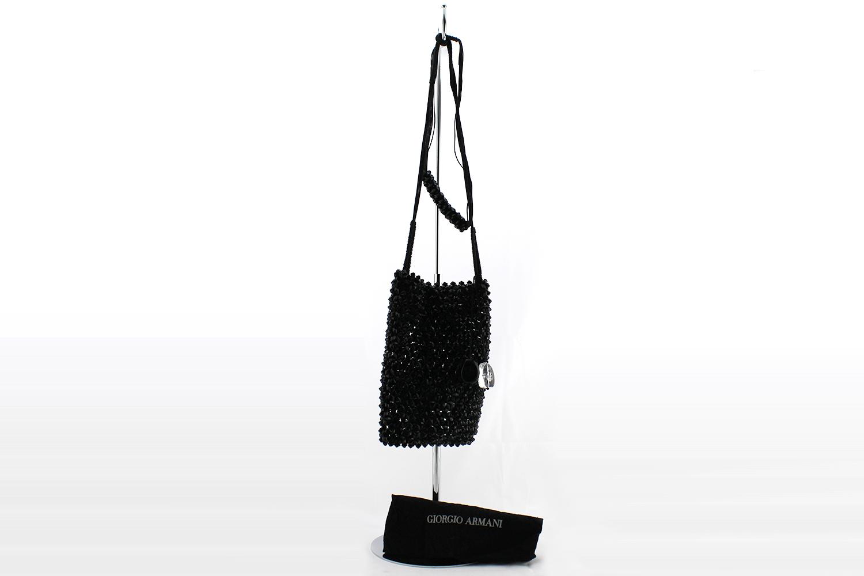Pochette de jour / soirée Giorgio Armani Authentique d'occasion en pierres couleur noir - Édition limitée