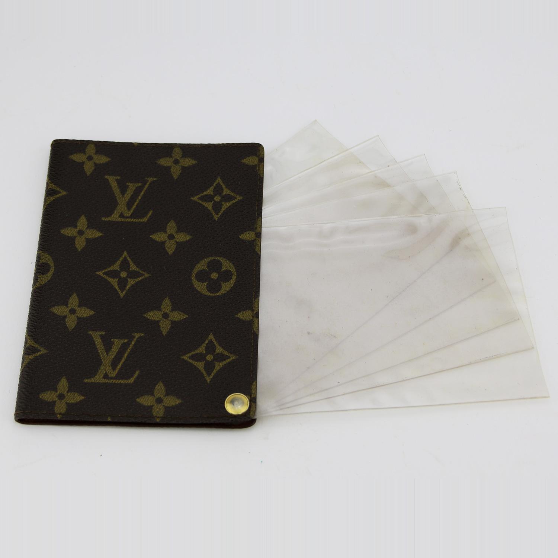 Porte-documents d'identité Louis Vuitton Authentique d'occasion en Toile Monogram Brun