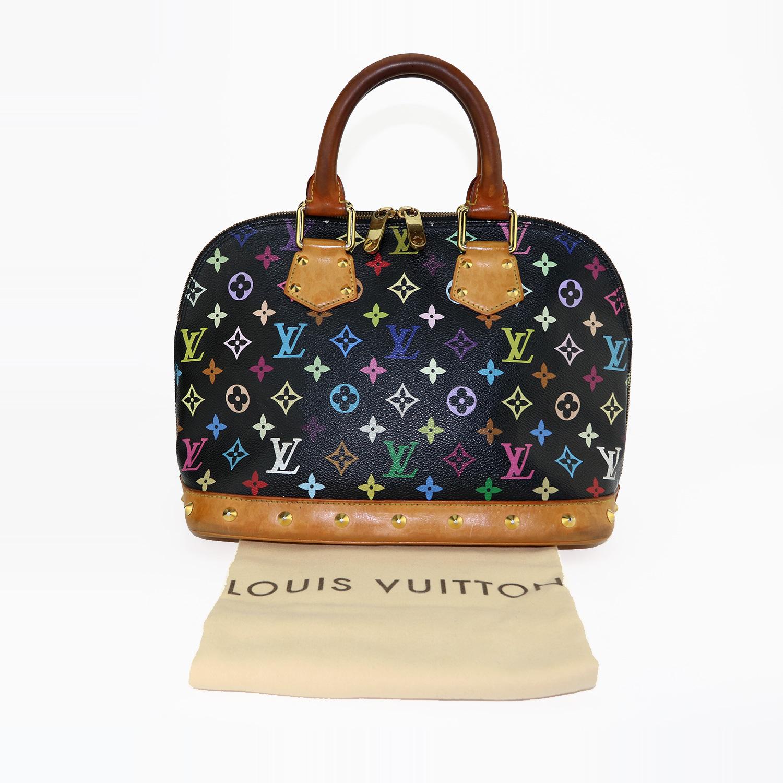 """Sac Louis Vuitton Alma PM Authentique d'occasion toile Monogram multicolore noire """"Édition Limitée"""""""