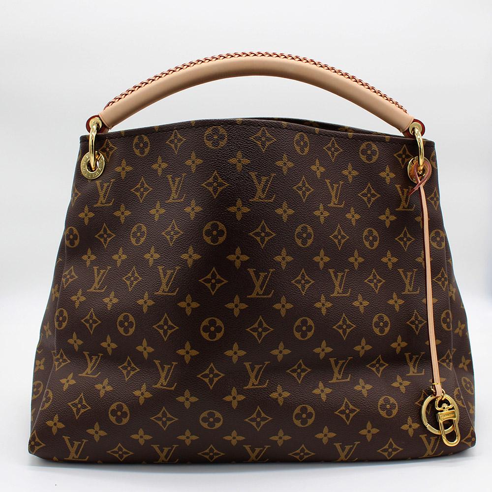 Sac à main Louis Vuitton Artsy MM Authentique d'occasion en toile Monogram brun