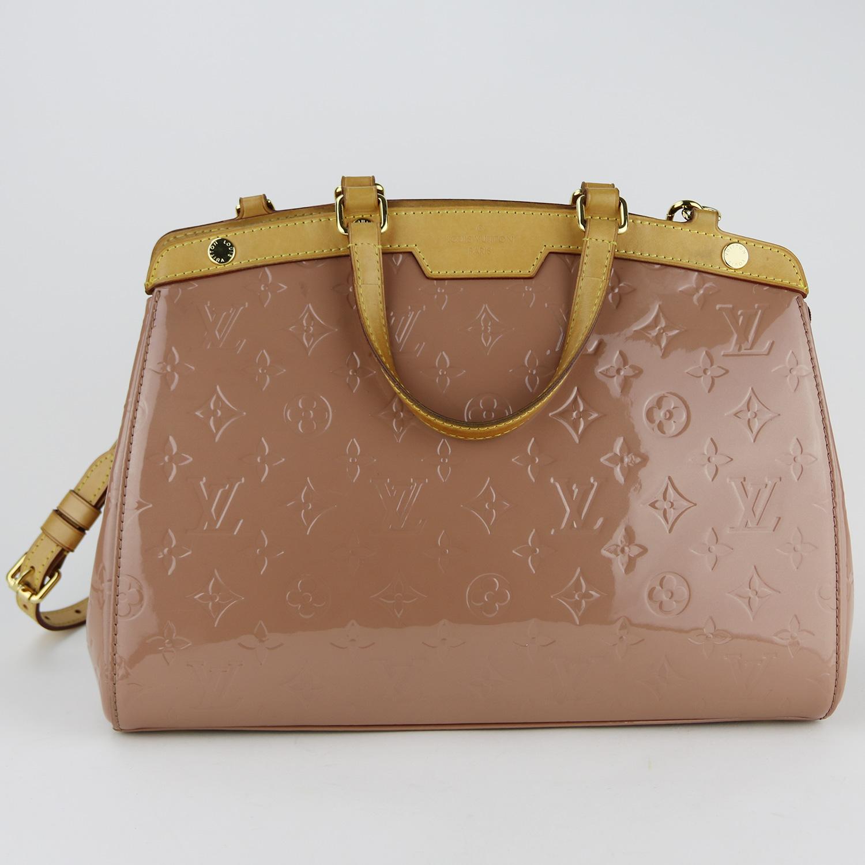 Sac Louis Vuitton Brea MM Authentique d'occasion cuir vernis rose velours