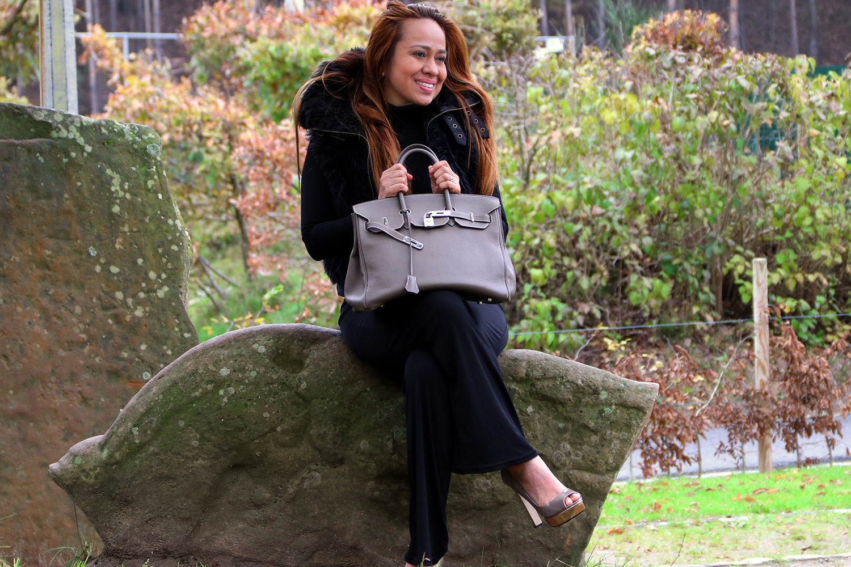 Sac à main Hermès Birkin 35 Authentique d'occasion en cuir togo couleur Étoupe