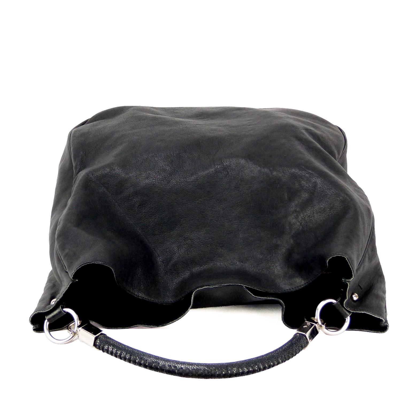 """Sac à main Yves Saint Laurent Roady Authentique d'occasion en cuir poli couleur noir """"Édition limitée"""""""