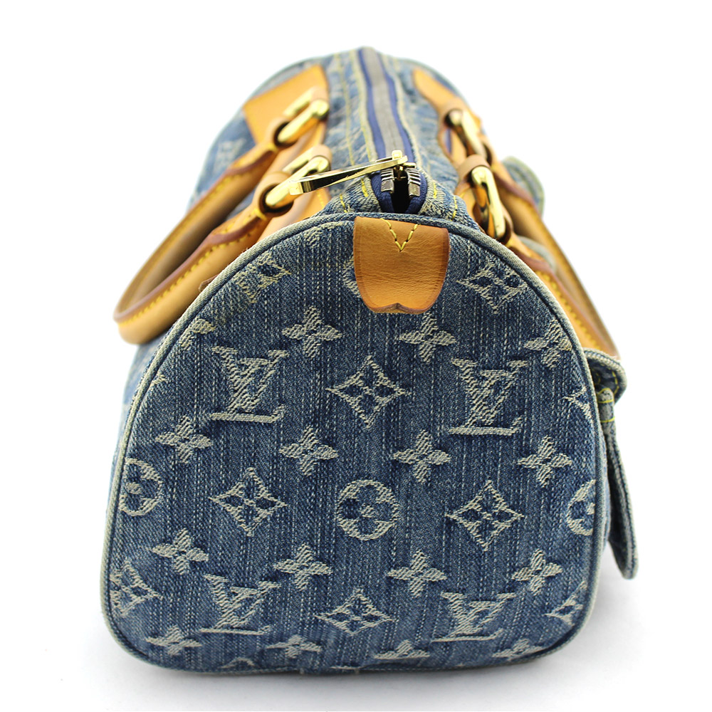 "Sac à main Louis Vuitton Neo Speedy 30 denim bleu monogram ""collection Speedy"" Authentique d'occasion"