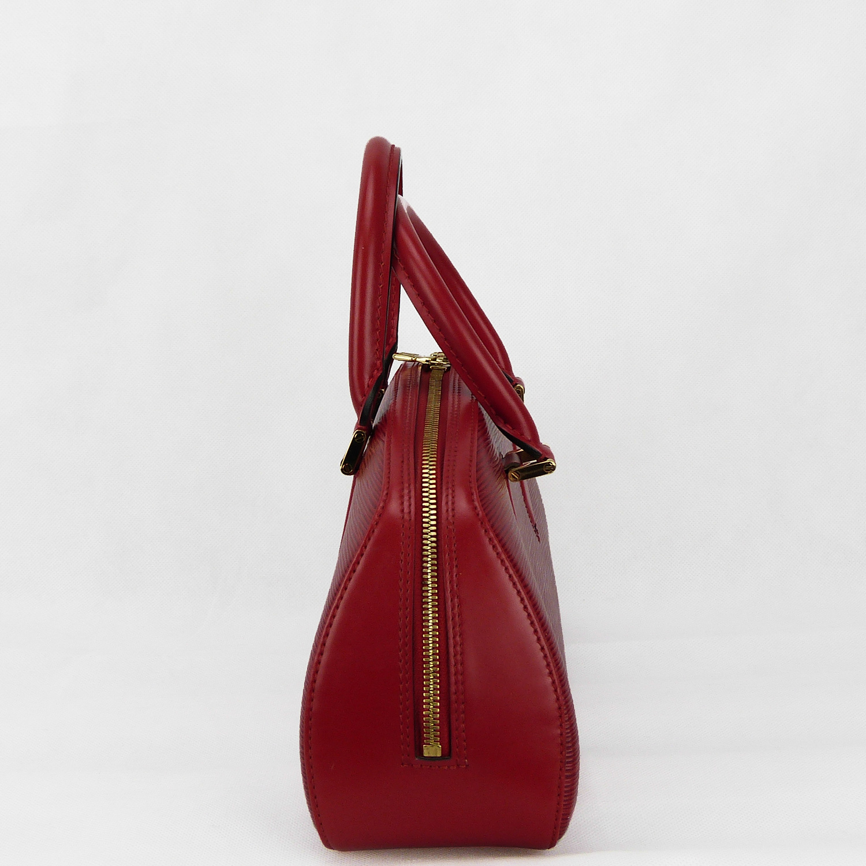 Sac à main Louis Vuitton Jasmin Authentique d'occasion en cuir épi couleur rouge