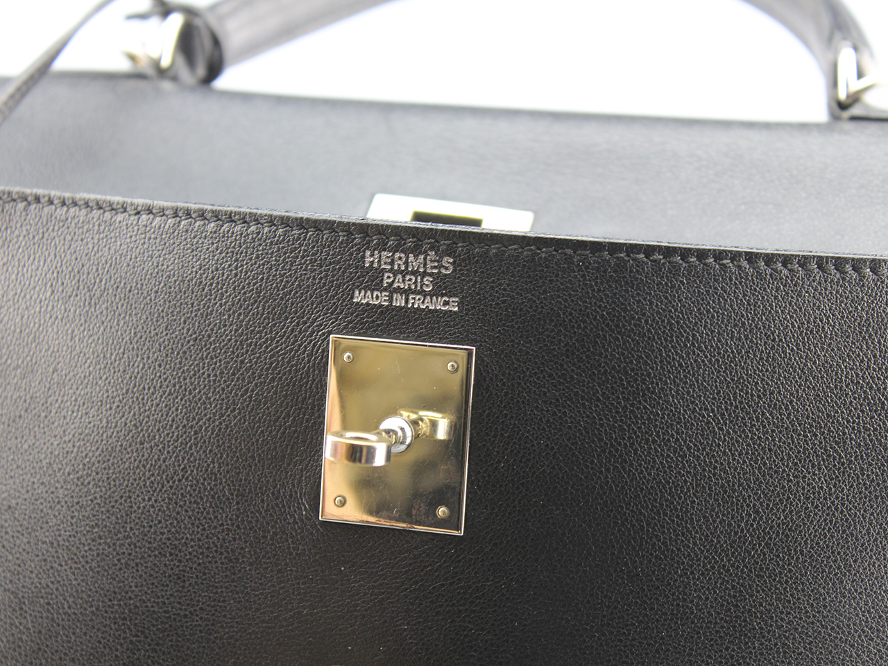 Rare et sublime Sac Hermès Kelly 35 Authentique d'occasion en cuir couleur noir