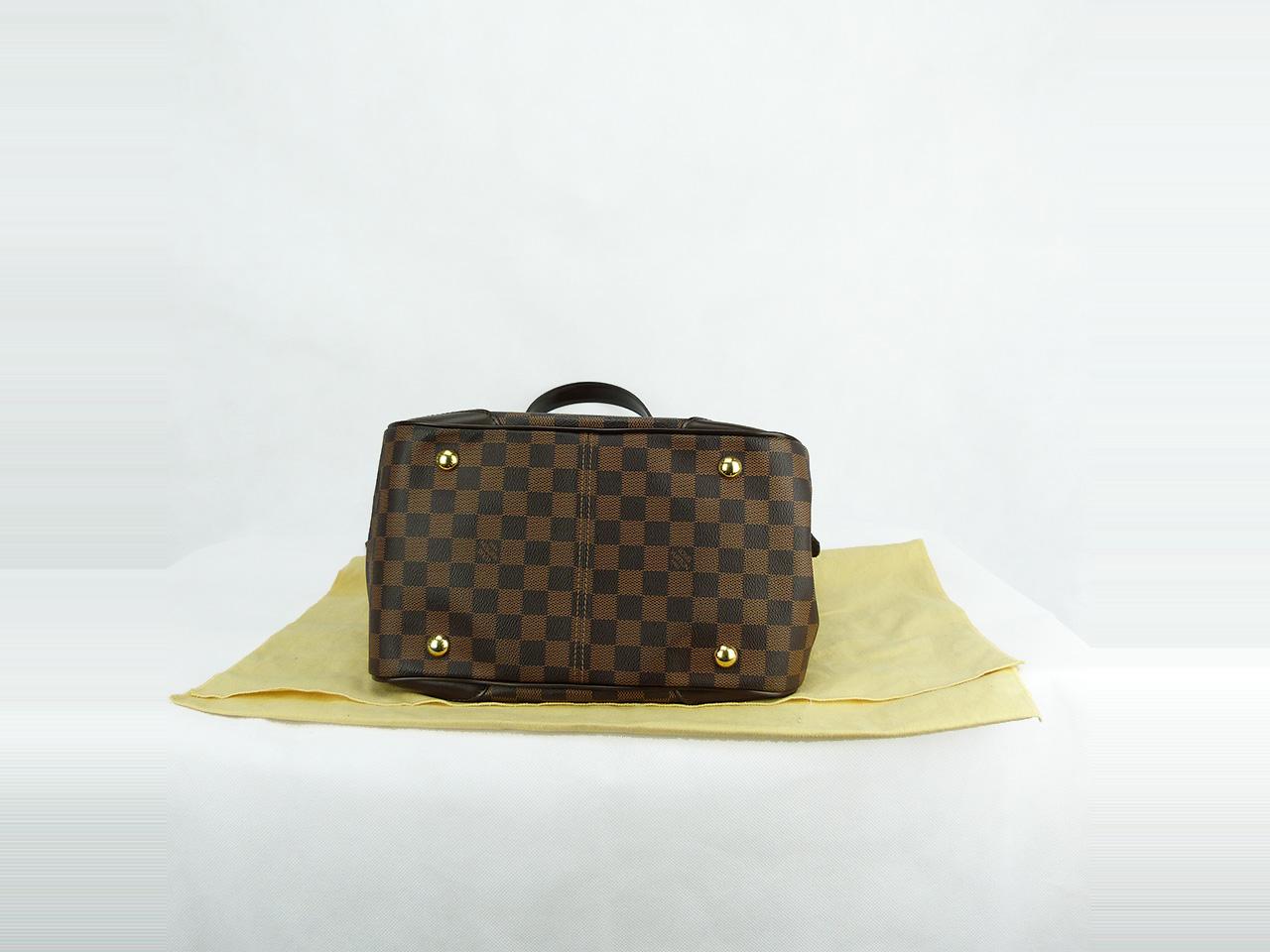 Sac à main Louis Vuitton Verona MM Authentique d'occasion en toile enduite damier ébène