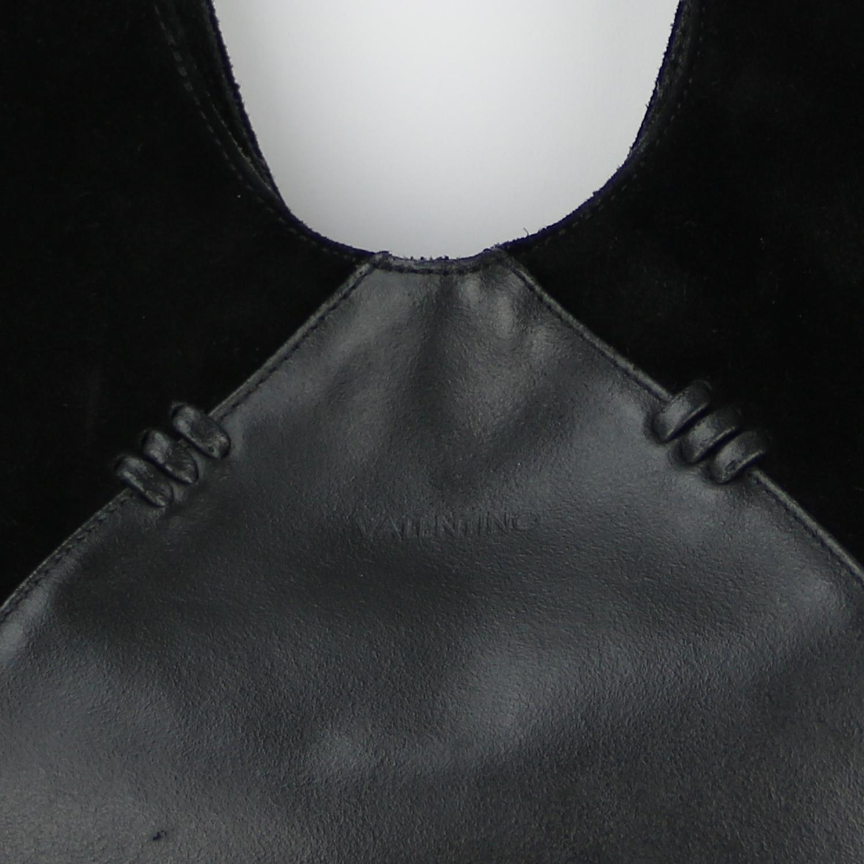 Sac à main Valentino Authentique d'occasion en cuir et daim couleur noir