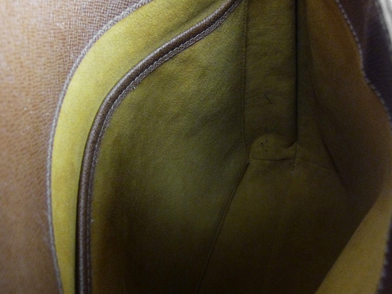 Sac porté épaule Louis Vuitton Musette Salsa Authentique d'occasion en toile monogram et cuir naturel